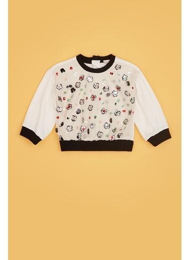 BG Baby Kız Bebek Ekru S-Shirt 20Fw0Bg2412 Ekru